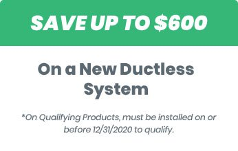 Save up to $600 on a new ductless system